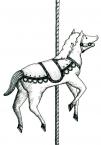 サーカス-くるくる回る木馬
